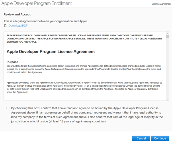 Apple Developer Program 開発者登録
