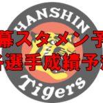 2018年 阪神 開幕スタメン オーダー 成績予想 開幕投手 先発ローテ