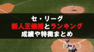 プロ野球セ・リーグ新人王争いランキングと候補選手の成績予想!