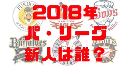 2018年プロ野球パ・リーグ新人王争いランキング!候補選手の成績まとめ!