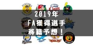 【2019年】プロ野球FA選手の移籍先チーム予想!FA権行使予想と主力選手のご紹介!