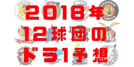 2018 ドラフト会議 1位指名 予想 プロ野球 12球団 指名候補選手