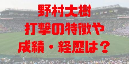 2018年ドラフト 早稲田実業 野村大樹 プロ志望届提出!成績・経歴・特徴は?