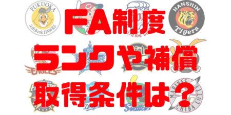 プロ野球FA制度!FA権のランクや取得条件、人的補償・金銭補償の内容も!