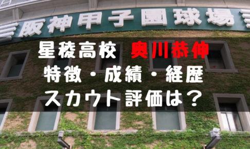2019年 ドラフト 星稜高校 奥川恭伸 10連続奪三振 成績 経歴 特徴