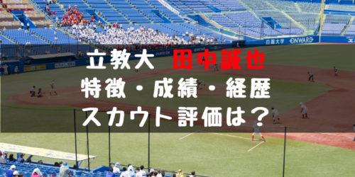 2019年ドラフト候補 田中誠也(立教大)はノビのある速球!成績・経歴・特徴は?