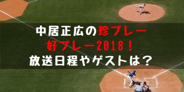 2018 プロ野球 珍プレー好プレー大賞 放送日程 ゲスト 過去の放送