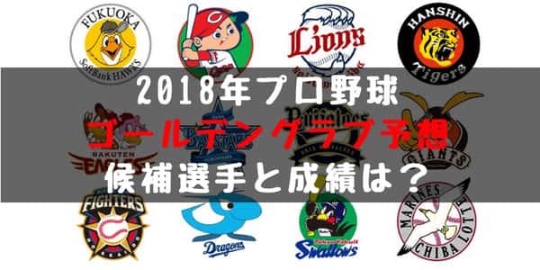 2018年 プロ野球 ゴールデングラブ賞予想!候補選手や選考基準、発表日は?
