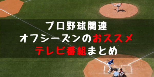プロ野球のおススメテレビ番組!オフシーズンに見ておきたい番組をチェック!