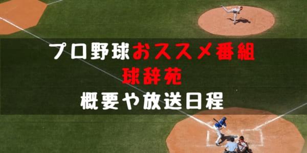 プロ野球 おススメ番組 球辞苑 概要 2018年 放送日程 過去 テーマ