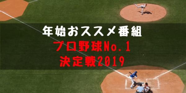 野球 年末 特番 プロ野球No.1決定戦 概要 放送日程 放送内容