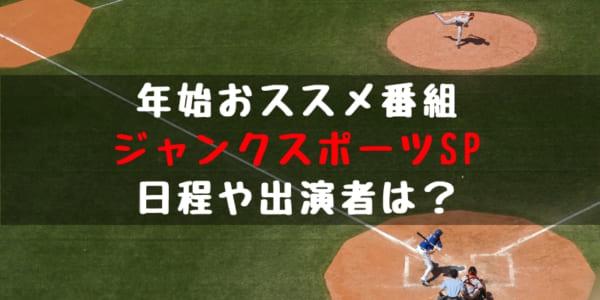 【野球年始特番】ジャンクスポーツSP!テレビ放送日程、出演選手、放送内容は?