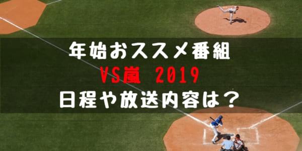 【野球年始特番】VS嵐 2019に西武出演!?放送日程や出演者、内容は?