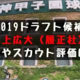 ドラフト2019候補 井上広大(履正社)の成績・経歴・特徴は?