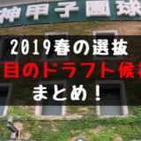 2019春の選抜高校野球 注目のドラフト候補まとめ!