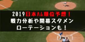 2019日本ハムファイターズ順位予想!戦力分析や開幕スタメン・ローテーションも!