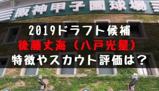 【ドラフト】後藤丈海(八戸光星)の成績・経歴・特徴は?