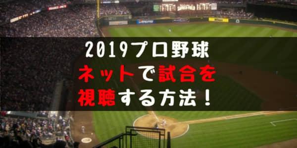 【最新】プロ野球のオープン戦・公式戦をネット放送で見る方法や最安値のまとめ!