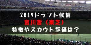ドラフト2019候補 宮川哲(東芝)の成績・経歴・特徴は?