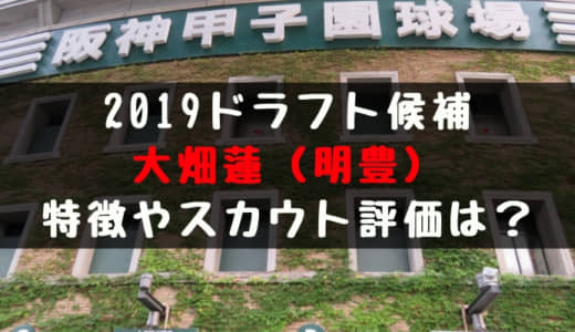 ドラフト2019候補 大畑蓮(明豊)の成績・経歴・特徴は?