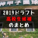 ドラフト2019 高校生候補まとめ!
