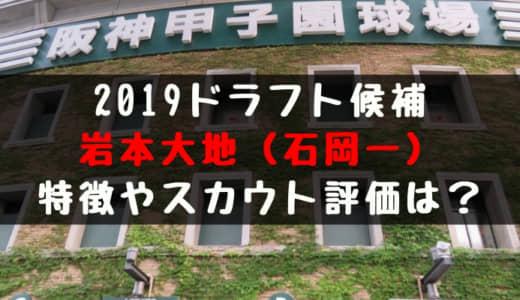 【ドラフト】岩本大地(石岡一)の成績・経歴・特徴は?
