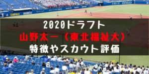 ドラフト2020候補 山野太一(東北福祉大)の成績・経歴・特徴は?