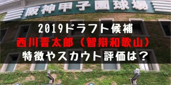 ドラフト2019候補 西川晋太郎(智辯和歌山)の成績・経歴・特徴は?