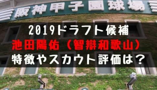 【ドラフト】池田陽佑(智辯和歌山)の成績・経歴・特徴は?