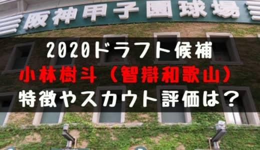 【ドラフト】小林樹斗(智辯和歌山)の成績・経歴・特徴は?