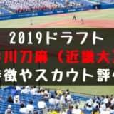 【ドラフト】谷川刀麻(近畿大)の成績・経歴・特徴は?