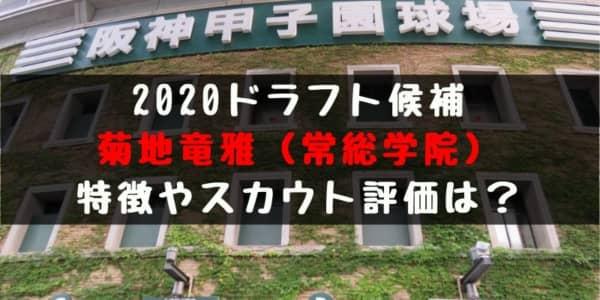 【ドラフト】菊地竜雅(常総学院 )の成績・経歴・特徴は?