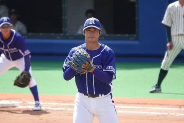 飯田晴海の投球前