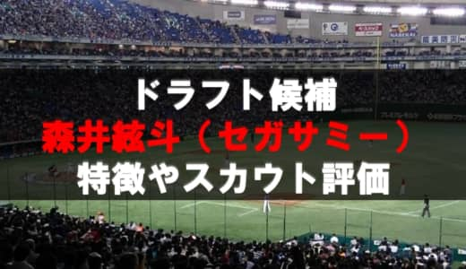 【ドラフト】森井絃斗(セガサミー)の成績・経歴・特徴