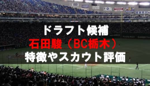【ドラフト】石田駿(BC栃木)の成績・経歴・特徴