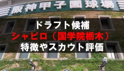 【ドラフト】シャピロ・マシュー・一郎(国学院栃木)の成績・経歴・特徴