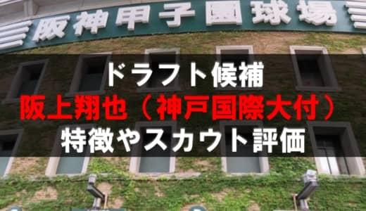 【ドラフト】阪上翔也(神戸国際大附)の成績・経歴・特徴