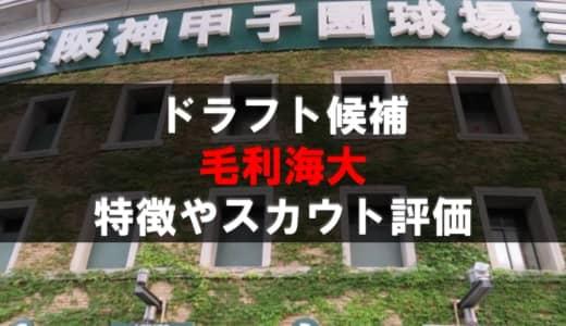 【ドラフト】毛利海大(福岡大大濠)の成績・経歴・特徴