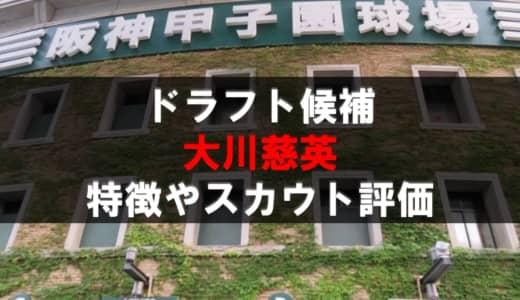 【ドラフト】大川慈英(常総学院)の成績・経歴・特徴