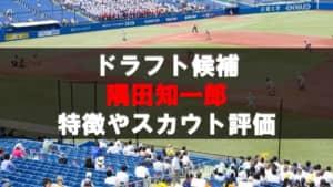 【ドラフト】隅田知一郎(西日本工大)の成績・経歴・特徴