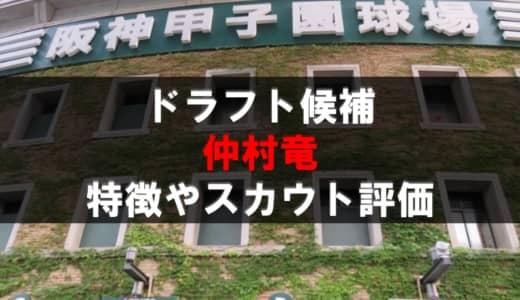 【ドラフト】仲村竜(岡山学芸館)の成績・経歴・特徴