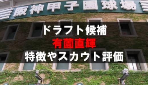 【ドラフト】有薗直輝(千葉学芸)の成績・経歴・特徴