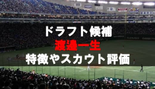 【ドラフト】渡邉一生(BBCスカイホークス)の成績・経歴・特徴