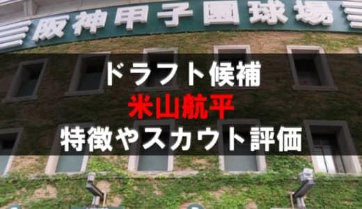 【ドラフト】米山航平(市尼崎)の成績・経歴・特徴
