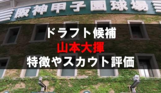 【ドラフト】山本大揮(九州国際大付)の成績・経歴・特徴